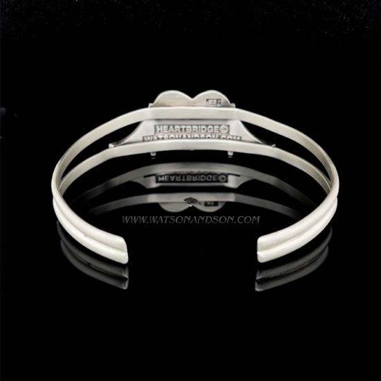 Heartbridge Silver Cuff Bracelet 5