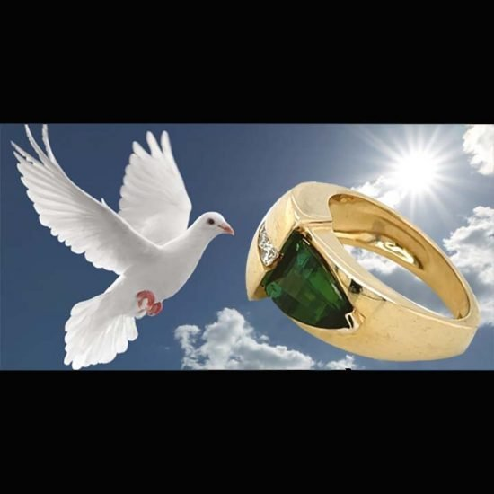 Green Chrome Tourmaline and Diamond Ring 8