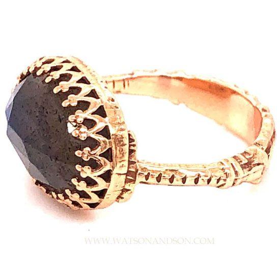 Becky Kelsol Rose Gold Labradorite Ring 4