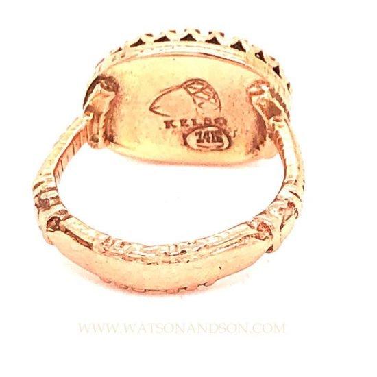 Becky Kelsol Rose Gold Labradorite Ring 3