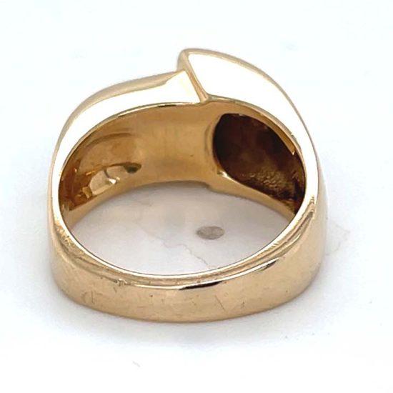 Green Chrome Tourmaline and Diamond Ring 4