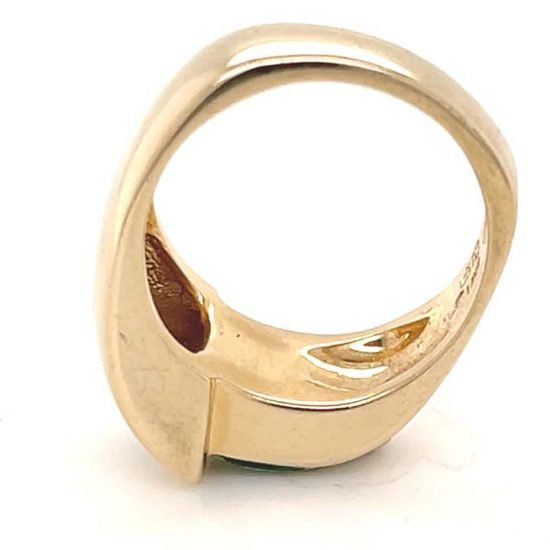 Green Chrome Tourmaline And Diamond Ring 6