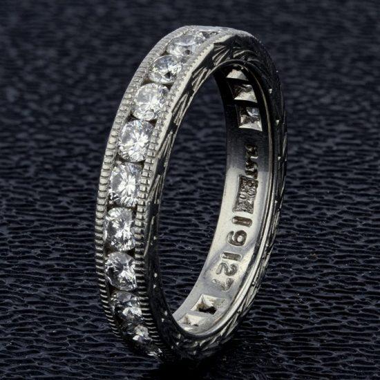 Platinum Diamond Wedding Band 1