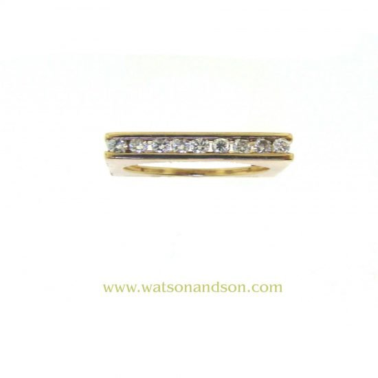 Yellow Gold Marraccini Square Shaped Diamond Ring 7