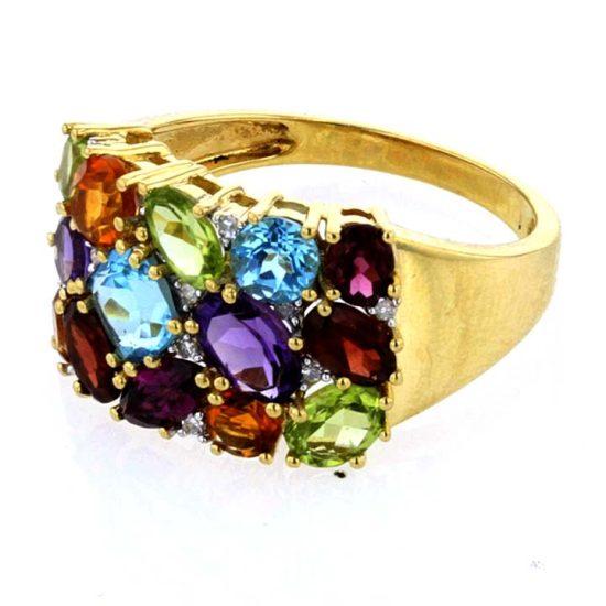 Tuttie Fruity Multi Colored Gemstone Ring 5