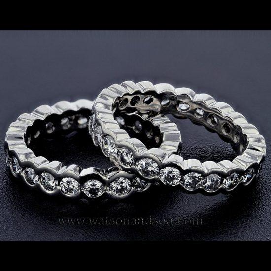 Platinum Diamond Eternity Bands 1