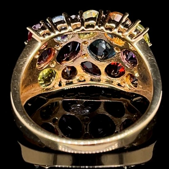 Tuttie Fruity Multi Colored Gemstone Ring 4