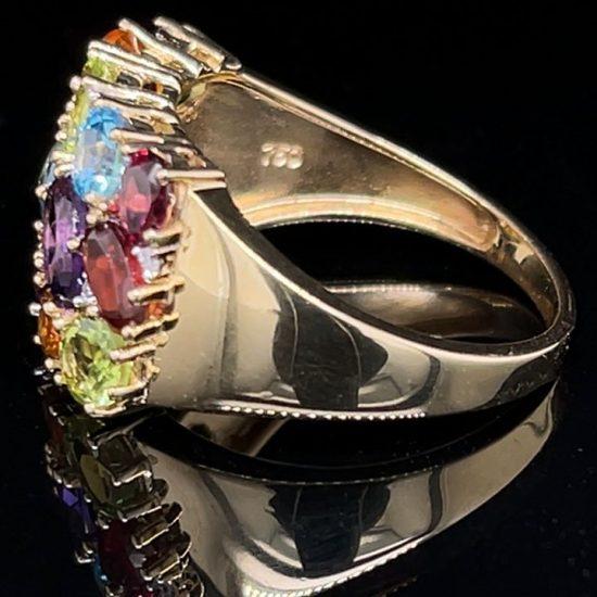 Tuttie Fruity Multi Colored Gemstone Ring 3