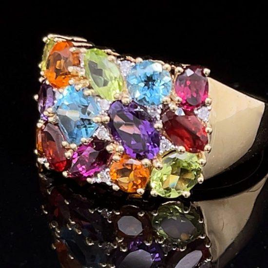 Tuttie Fruity Multi Colored Gemstone Ring 2