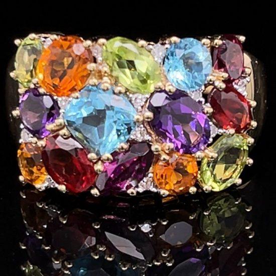 Tuttie Fruity Multi Colored Gemstone Ring 1