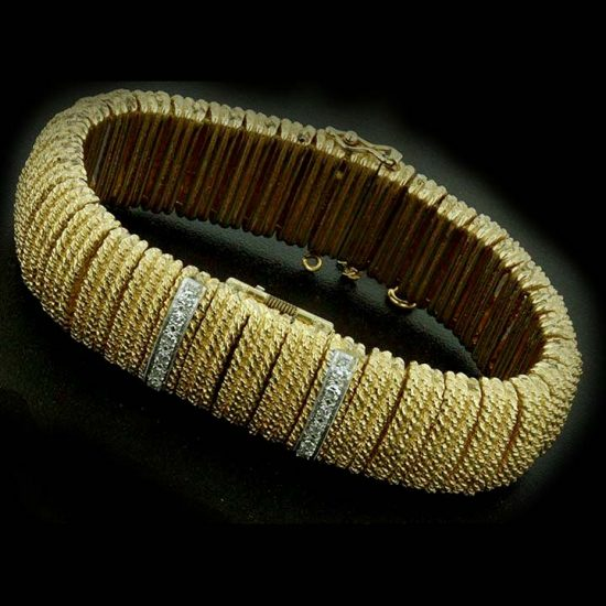 Yellow Gold Covered Bracelet Watch 1