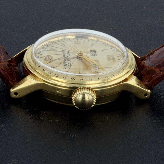 Movado Caledormatic Gold Strap Watch 3