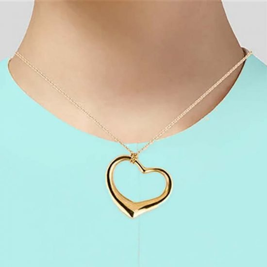 Tiffany Elsa Peretti Heart Pendant In Gold 2