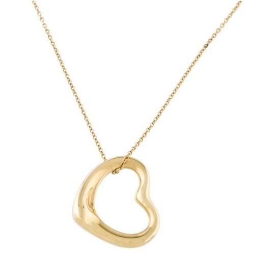 Tiffany Elsa Peretti Heart Pendant In Gold 5