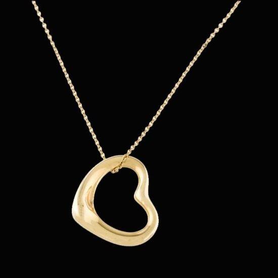 Tiffany Elsa Peretti Heart Pendant In Gold 1