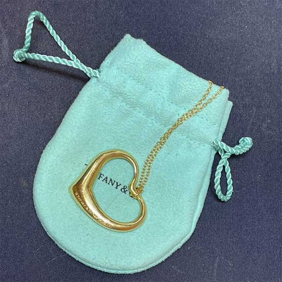 Tiffany Elsa Peretti Heart Pendant In Gold 6