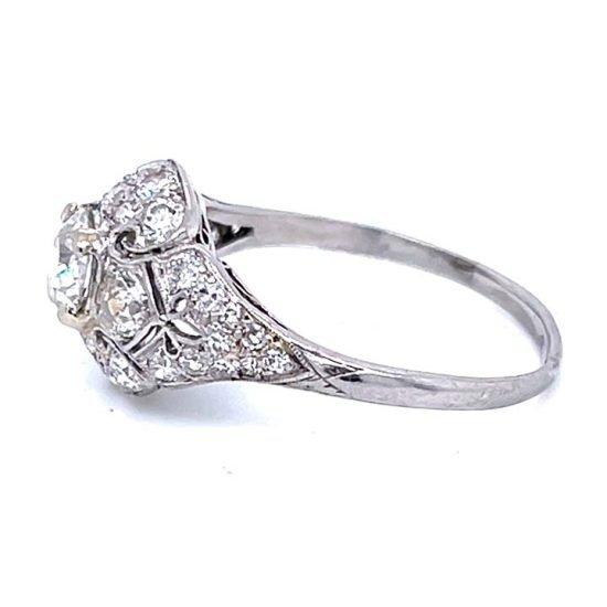 Platinum Filigree Diamond Edwardian Ring 5