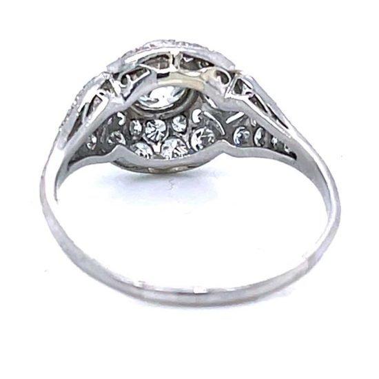 Platinum Filigree Diamond Edwardian Ring 4