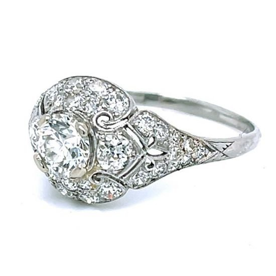 Platinum Filigree Diamond Edwardian Ring 3