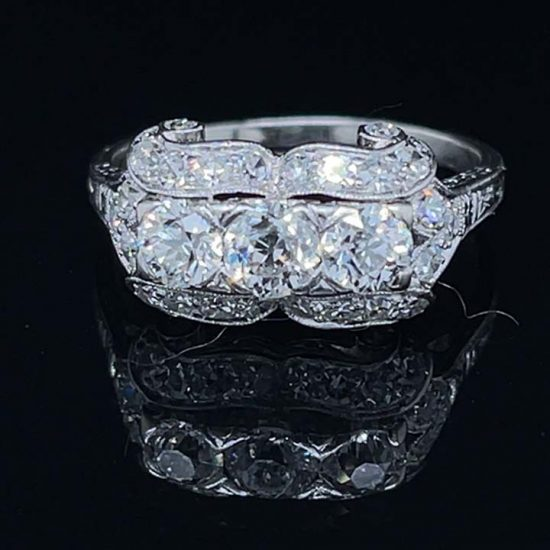 Platinum Edwardian Platinum 3 Stone Diamond Ring 1