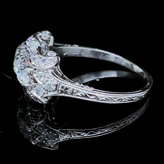 Platinum Edwardian Platinum 3 Stone Diamond Ring 3