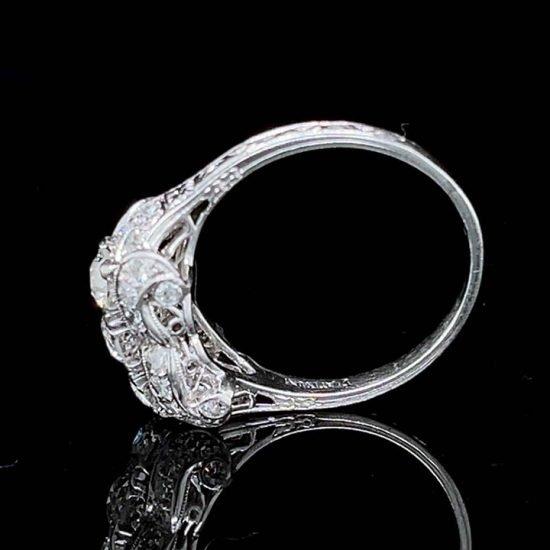 Platinum Edwardian Platinum 3 Stone Diamond Ring 5