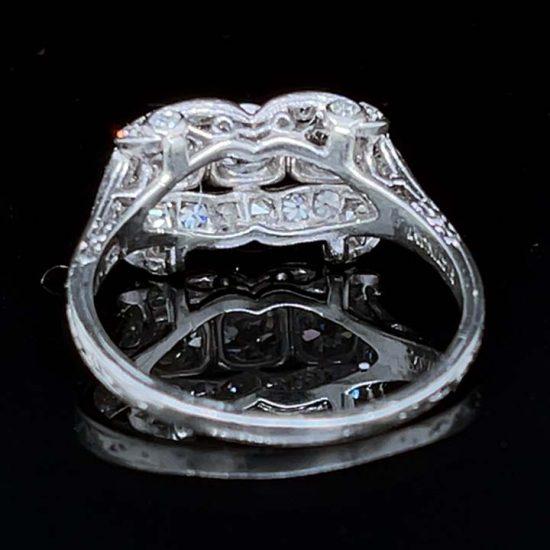 Platinum Edwardian Platinum 3 Stone Diamond Ring 6