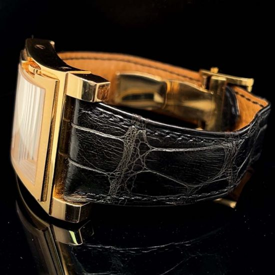 Rose Gold Bedat Number 1 Strap Watch 3