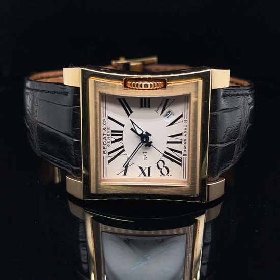Rose Gold Bedat Number 1 Strap Watch 1