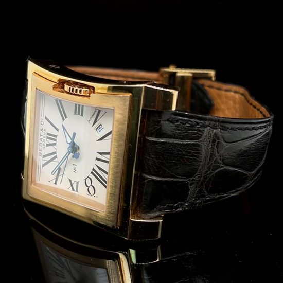 Rose Gold Bedat Number 1 Strap Watch 2