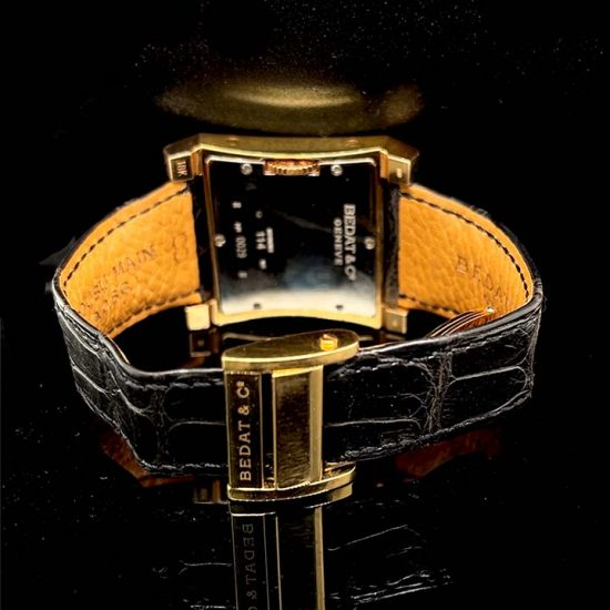 Rose Gold Bedat Number 1 Strap Watch 4