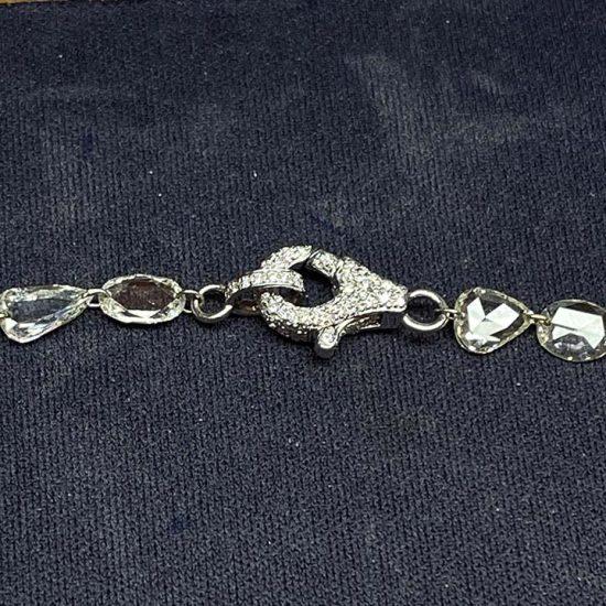 Briolette Diamond Necklace With Pave Clasp. 2