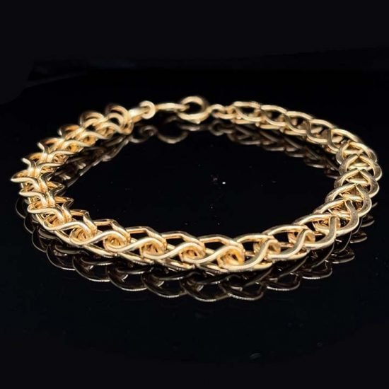 Tiffany &Amp; Co. Yellow Gold Loop And Loop Bracelet 1