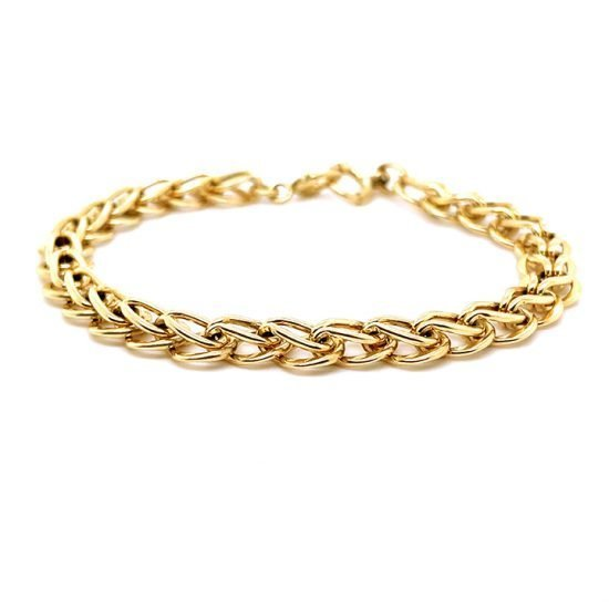Tiffany &Amp; Co. Yellow Gold Loop And Loop Bracelet 5