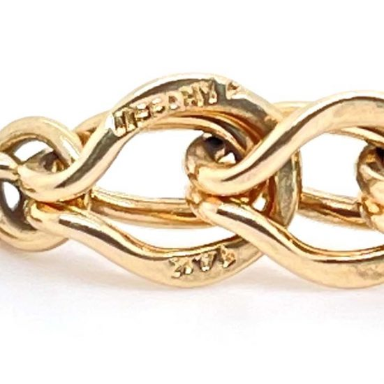 Tiffany &Amp; Co. Yellow Gold Loop And Loop Bracelet 4