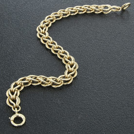 Tiffany &Amp; Co. Yellow Gold Loop And Loop Bracelet 2