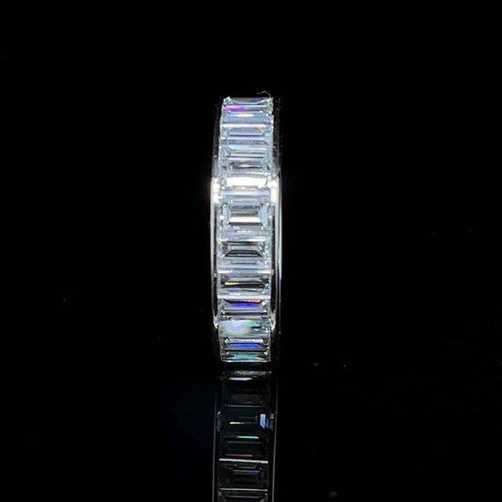 Baguette Cut Diamond Eternity Band In Platinum 2